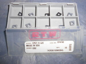 Rtw Carbide Inserts Cpgt21 52e Cq2 Qty 10 Usa