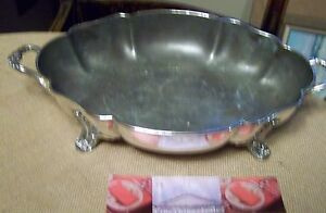 Silver On Copper Exlarge Entree Chafing Dish Serving Stand Vintage 1890s Set