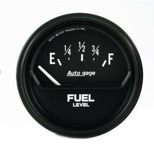 Auto Meter Fuel Level Gauge 2316 Auto Gage 0 e To 90 Ohms f 2 5 8 Electric