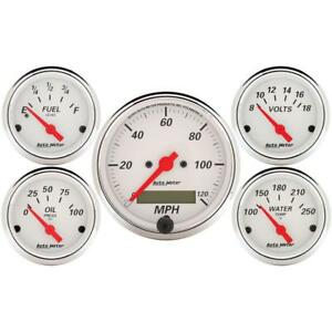 Auto Meter Gauge Set 1302 Arctic White Electrical White