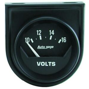 Auto Meter Voltmeter Gauge 2362 Auto Gage 8 To 18 Volts 2 1 16 Electrical