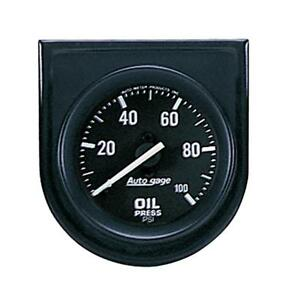 Auto Meter Oil Pressure Gauge 2332 Auto Gage 0 To 100 Psi 2 1 16 Mechanical