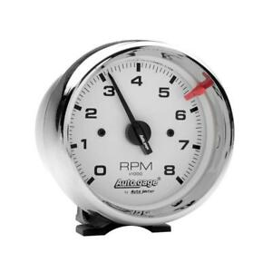 Auto Meter Tachometer Gauge 2304 Auto Gage 0 To 8000 Rpm 3 3 4 Electrical