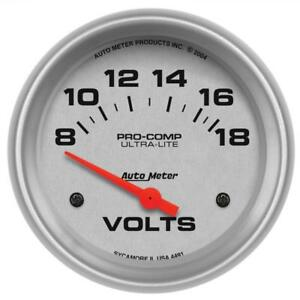 Auto Meter Voltmeter Gauge 4491 Ultra lite 8 To 18 Volts 2 5 8 Electrical