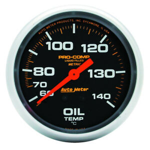 Auto Meter Oil Temperature Gauge 5441 Pro Comp 140 To 280 F 2 5 8 Mechanical