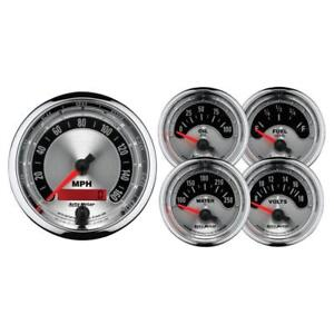 Auto Meter Gauge Set 1202 American Muscle Electrical Silver