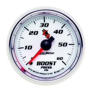 Auto Meter Boost Gauge 7105 C2 Boost 0 To 60 Psi 2 1 16 Full Sweep Mechanical