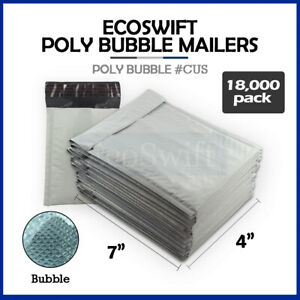 18000 0000 4x6 Full Pallet Small Poly Bubble Mailers Padded Envelope Bags 4 X 6
