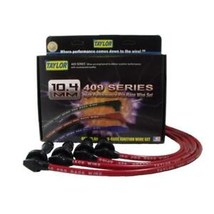 Taylor Spark Plug Wire Set 79269 409 Pro Race 10 4mm Red For Mitsubishi 4cyl