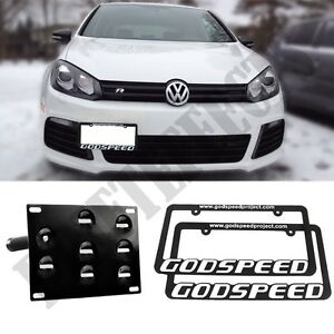 For Vw Volkswagen Golf Mk6 10 14 Euro License Plate Mount Kit Tow 2x Gsp Frames