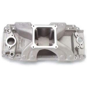 Edelbrock Intake Manifold 2911 Victor Oval Port Single Plane Aluminum For Bbc