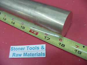 1 1 2 C360 Brass Round Rod 18 Long Solid 1 500 Od H02 Lathe Bar Stock
