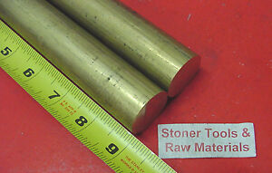2 Pieces 1 1 8 C360 Brass Solid Round Rod 9 Long 1 125 H02 Lathe Bar Stock