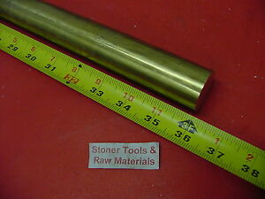 1 C360 Brass Solid Round Rod 36 Long New Lathe Bar Stock 1 000 1 2 Hard