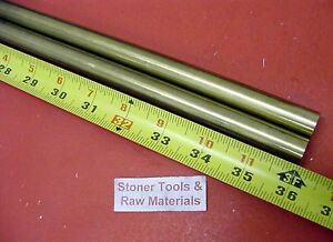 2 Pieces 1 2 C360 Brass Solid Round Rod 36 Long New Lathe Bar Stock H02 500