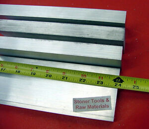 4 Pieces 3 4 x 3 Aluminum Flat Bar 24 Long 6061 750 Solid Plate Mill Stock