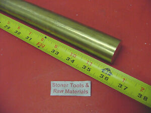 1 1 16 C360 Brass Round Rod 36 Long Solid New Lathe Bar Stock 1 062 1 2 Hard