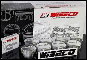 Sbc Chevy 427 Wiseco Forged Pistons Rings 4 125 Bore 10cc Dome Top Kp477as