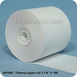 61008 Thermal Paper Rolls 2 1 4 X 198 Case Of 100 Rolls