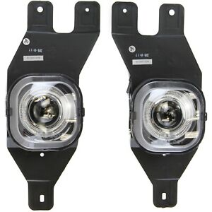 Fog Light Halo Projector Style For 1999 04 Ford F 250 Sd Lh Rh Pair Clear Lens