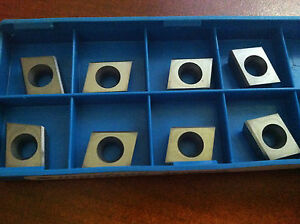 Ingersoll Carbide Milling Inserts Cde313r001 Grade In10k Qty 8 5800507