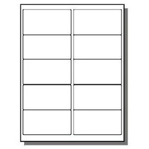 60 000 Premium Address Labels 2 X 4 10 Per Page Uses 10 Up Template