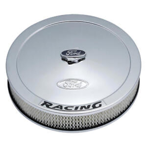 Proform Air Cleaner Assembly 302 351 Ford Racing Chrome Steel 13 000 2 625