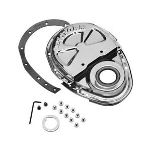 Proform Engine Timing Cover 66666 Chrome Steel For Chevy 262 400 Sbc