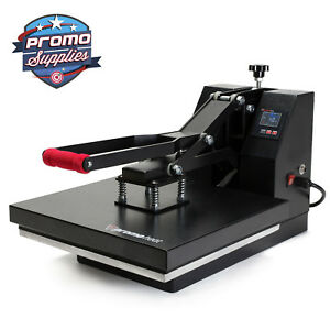 Heat Press T shirt Heat Transfer Sublimation Machine 15 X 15 Black Clamshell