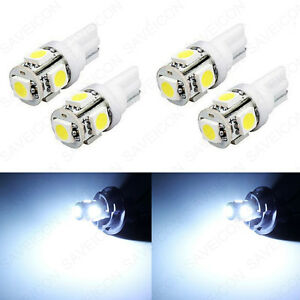 4 X Xenon White Led License Plate Light Bulbs 168 194 2825 T10 W5w For Chevrolet