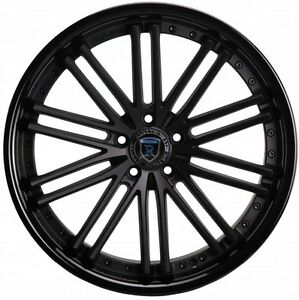 Rohana Rc20 20x11 5x114 Et28 Matte Black gloss Black Lip Wheels Rims set Of 4