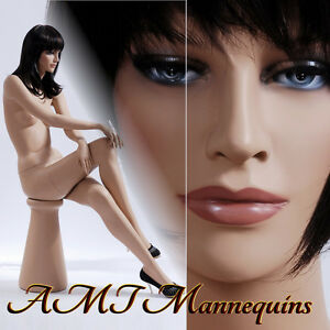 Female Mannequins Brand New Display Sitting Hand Made Mannequin ruby