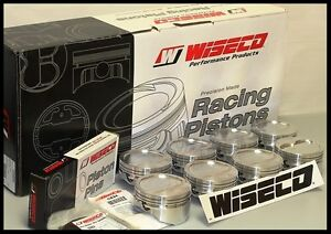 Sbc Chevy 406 Wiseco Forged Pistons Rings 4 155 Bore 13 5cc Rd Dish Kp501a3