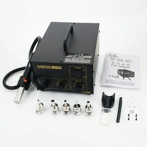 Gaoyue 850 270w 220v Anti static Flat Compos Hot Wind Soldering Station Black