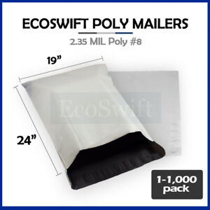 1 1000 19 X 24 ecoswift Poly Mailers Envelopes Plastic Shipping Bags 2 35 Mil