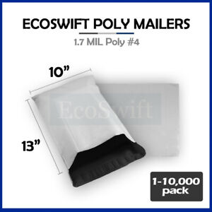 1 10000 10 X 13 ecoswift Poly Mailers Envelopes Plastic Shipping Bags 1 70 Mil
