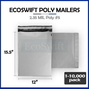 1 10000 12 X 16 ecoswift Poly Mailers Envelopes Plastic Shipping Bags 2 35 Mil