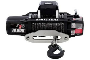 Smittybilt X2o 10k 98510 Comp Waterproof Wireless Synthetic Rope Winch Jeep 4x4