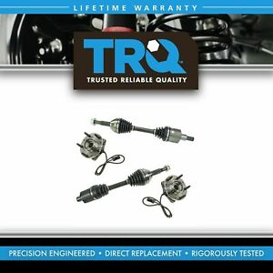 Trq Cv Axle Wheel Bearing Hub Kit Front Left Right Pair For Chevy Gmc Zr2 4wd