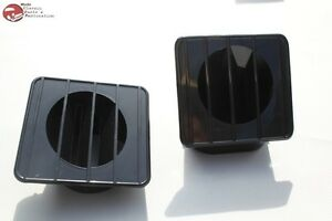 67 72 Chevy Gmc Truck Inside Black Dash Defroster Vent Duct Set Right Left New