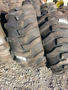 Two New 17 5lx24 R4 Kubota John Deere Farm Tractor Tires