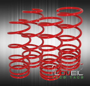 01 05 Honda Civic 2d 3d Coupe Sedan Jdm Red Suspension Coil Lowering Springs Kit