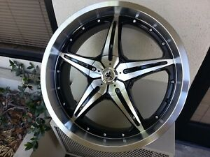 20 Inch Wheels Sovrano S5 Black Machine 5 X 114 3 40 Offset Camry Mustang G35