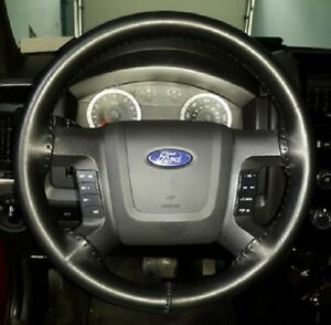 Wheelskins Solid Black Leather Steering Wheel Cover 2014 2015 Ford F150
