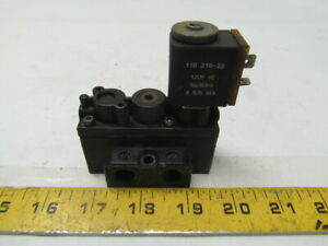 Aro A212ss120a Pneumatic Solenoid Valve 2 Position Body Ported 1 4 nptf 120vac