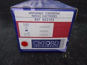 Box Of 25 Oxford Instruments Teca N53153 Disposable Needle Electrodes
