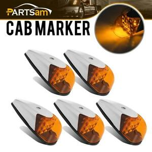 5x Universal Vs l157y 9 Led Bright Clearance Roof Running Cab Marker Amber Light