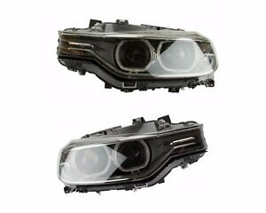 For Bmw F30 Set Of Left Right Headlight Assembly Bi xenon Adaptive Oem