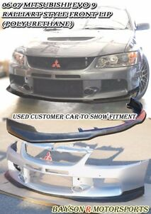 Ral style Front Lip urethane Fits 06 07 Mitsubishi Evo 9 evo Bumper Only