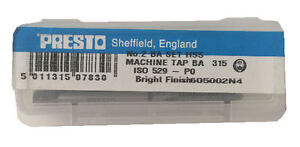 Presto Uk 2ba Taps And Dies Hss First Second Plug Direct From Rdgtools